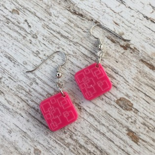 EARRINGS PINA PINK