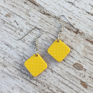 EARRINGS PINA YELLOW