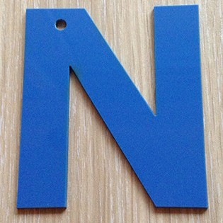 Sample of decorative letters for children's playground decoration